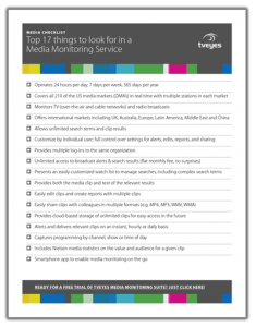 TVEyes Media Monitoring Checklist